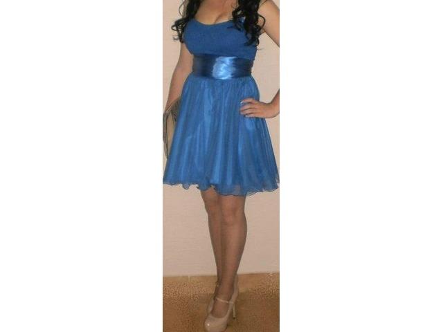 Kraljevsko plava koktel haljinica *NOVA*