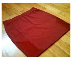 Amisu suknja bordo boje (M)