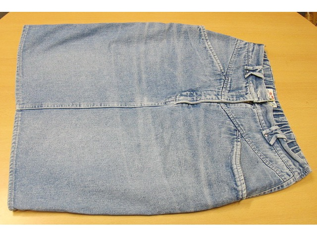 Jeans (traper) suknja dužine do koljena