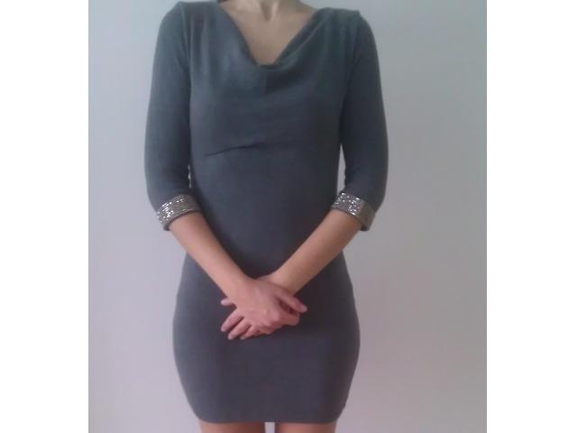 siva zara haljina