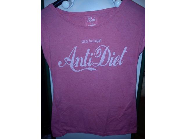 Print rozo breskvasta majica kratkih rukava