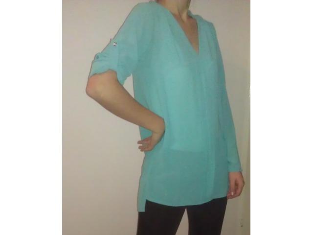 tirkizna bluza, košulja zara