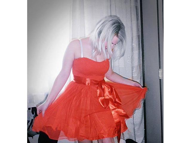 Kikiriki plava i crvena haljina