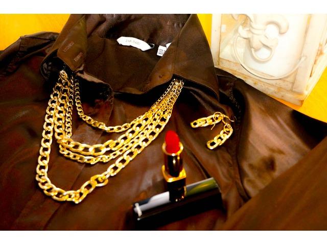 Komplet Ogrlica+Naušnice boja zlata