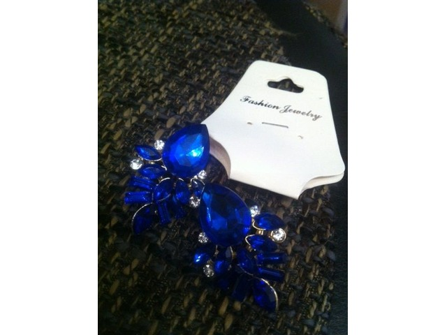 Kobalt plave naušnice