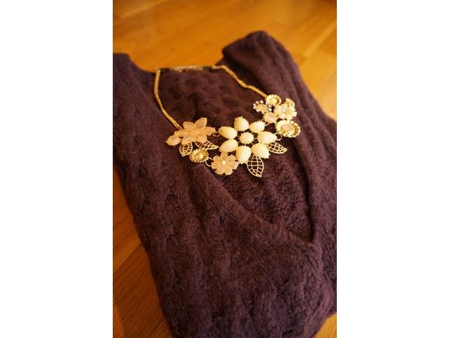 Cvjetna metalna ogrlica - bež+pink i cijela pink