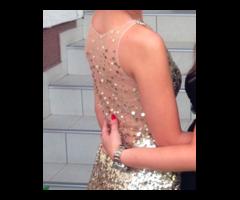 Zlatna svecana haljina