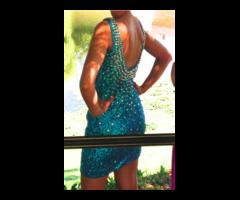 Tirkizna svecana haljina