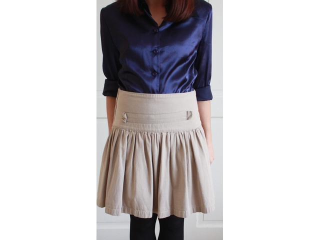 Krem suknja