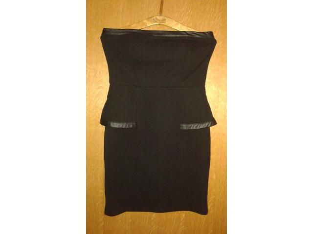 AMISU Crna peplum haljina