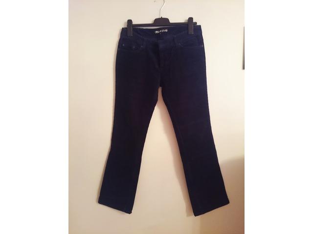 Plave samt hlače - veličina 40