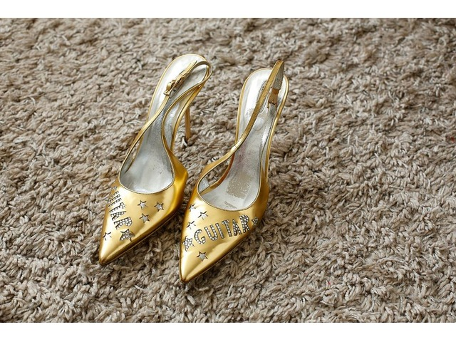 Le Silla Gitara zlatne sandale 36,5