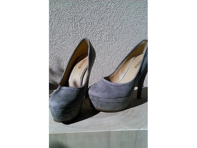 Sive platforma cipele