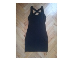 Ginatricot crna haljina