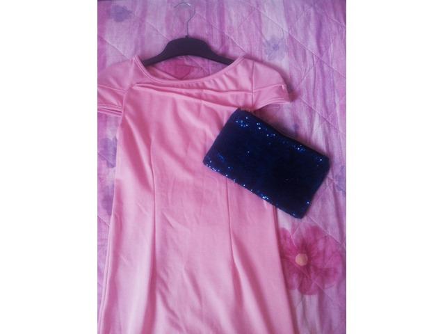 Lot roza haljina + clutch