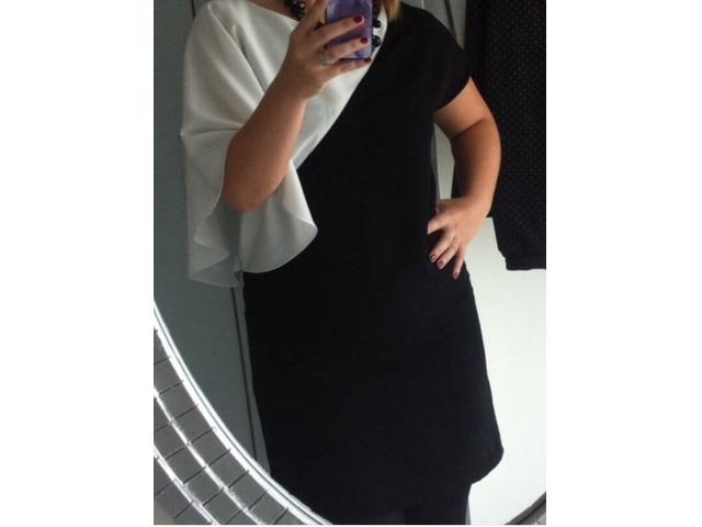 Zara crno bijela haljina