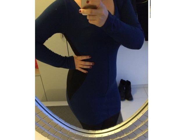 Plavo crna haljina