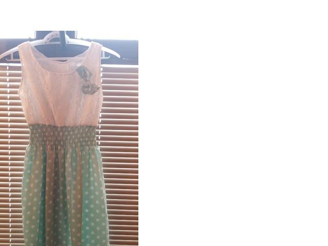 haljina bijelo zelena