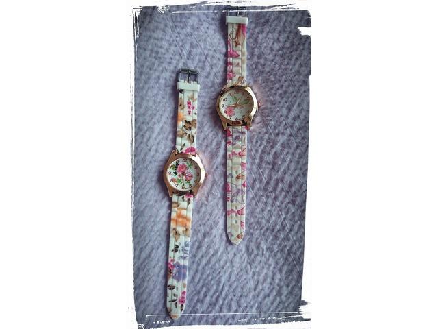 Silikonski satovi s cvjetnim printom