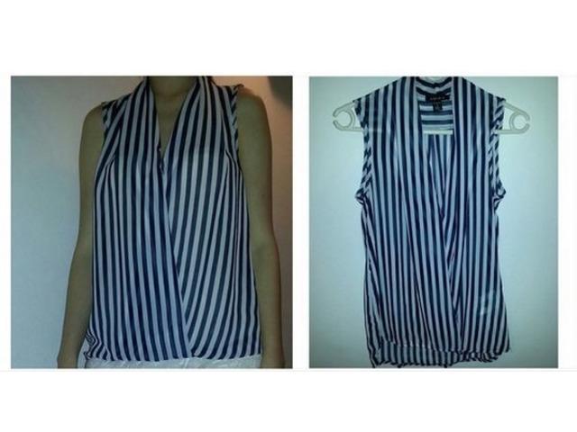 Plavo-bijela bluza