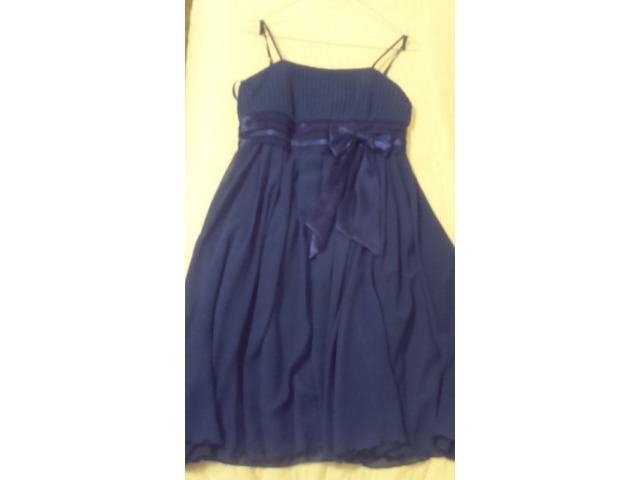 Plava haljina i krem bolero za krizmu