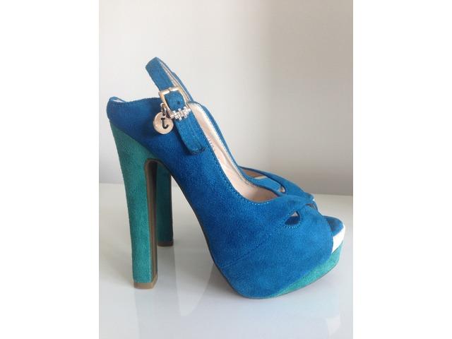 Tirkizno - plave stikle \ sandale, 36, 150kn