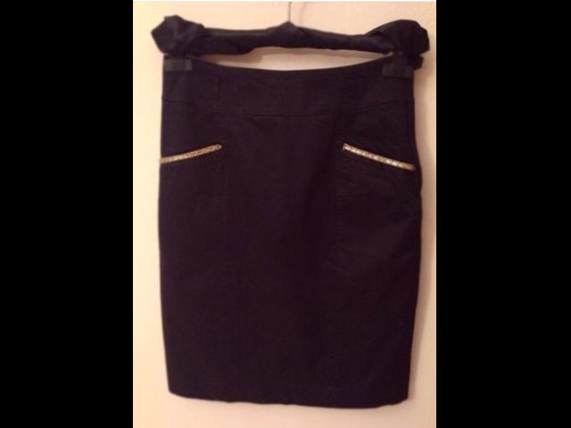 h&m suknja sa zlatnim detaljima