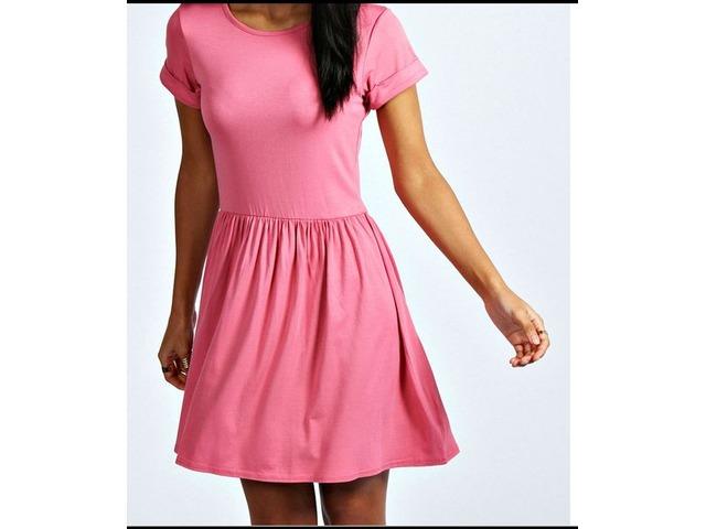 Nova Skater roza haljina - Boohoo