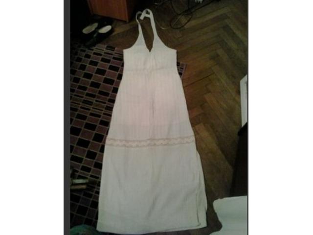 vintage krem maxi haljina 34/36