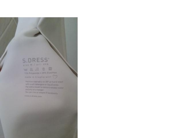 S.Dress bijela haljina