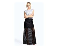 Crna maxi mesh suknja
