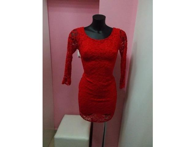 NOVO-Crvena čipkasta haljina-50 kn