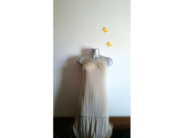 NOVA bež nude haljina