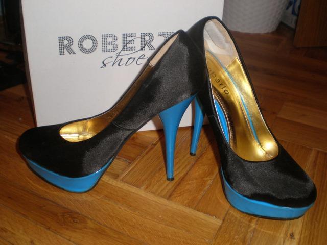 Roberto crno-plave štikle