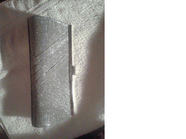 Svečana srebrna torbica