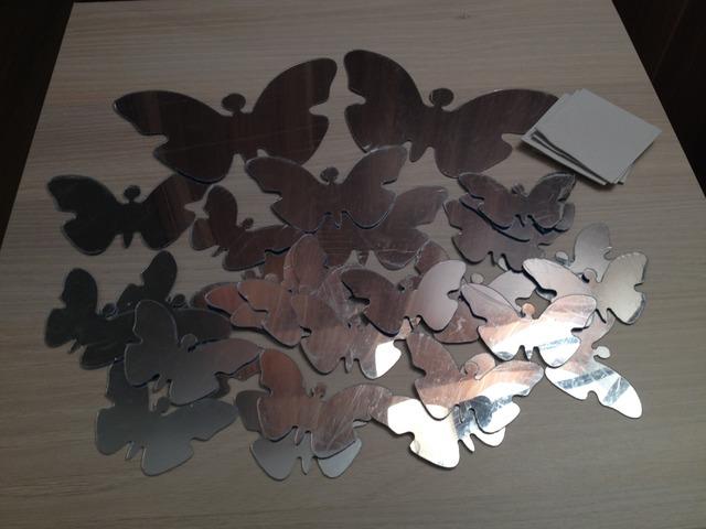 30kom dekorativnih (mirror) leptira