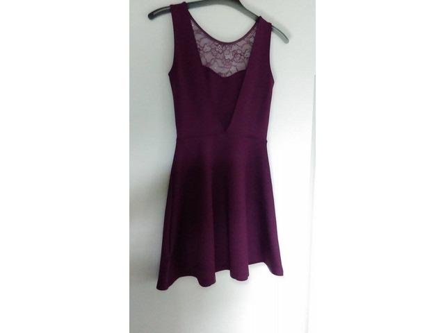 h&m ljubičasta haljina vel.34