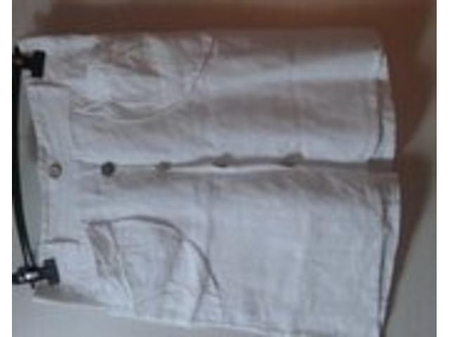 Suknja bijela lanena