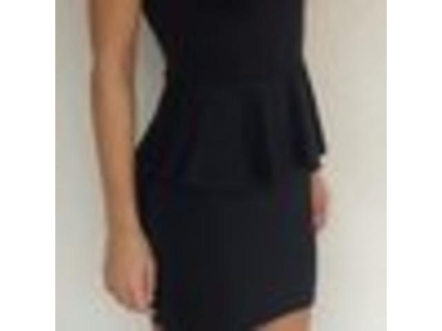 Zara peplum crna haljina (S)