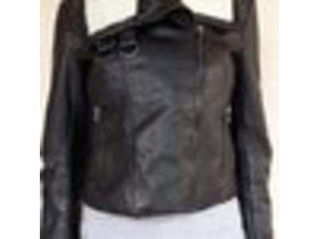 H&M aviator kožna jakna s krznom (38)