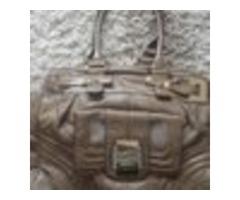 Guess bež/svijetlo smeđa torba, zlatni detalji