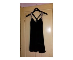 crna haljina sa cirkonima 34/36