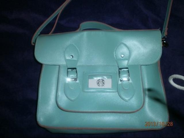 Plava retro torba