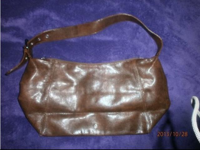 S.Oliver kožna smeđa torba