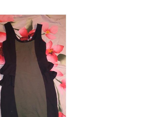 Crno-maslinasta haljina 38 (M)