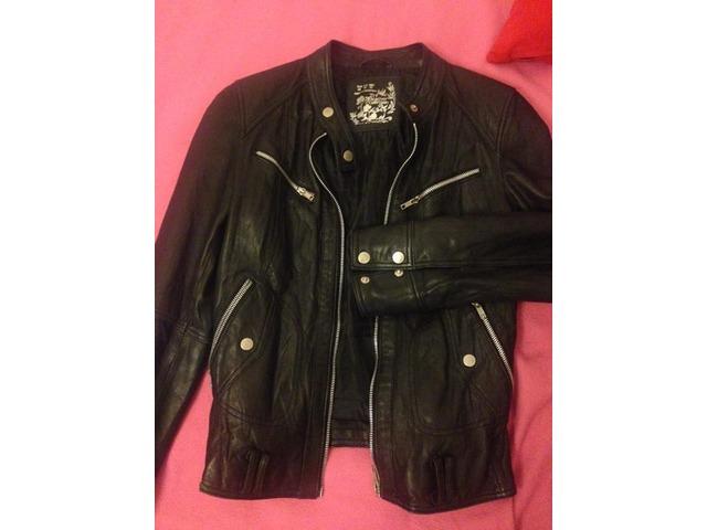 Kožna crna jakna