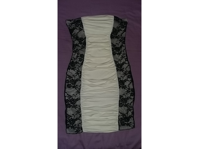 Tally Weijl bijela haljina s čipkom