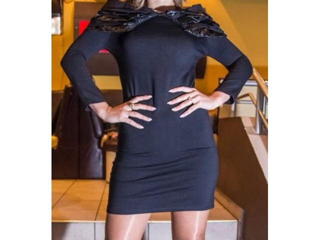 Mala crna haljina like Versace 36-S