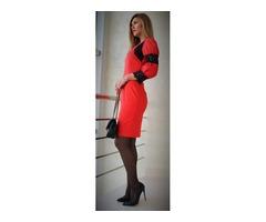 Haljina crveno-crna