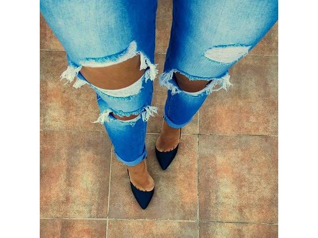 *SNIŽENO 50%* Calzedonia ripped jeans